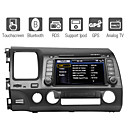 7 polegadas carro dvd player para honda civic 2006-2011 com gps do bluetooth ipod tv