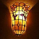 Tiffany Style Wall Light with Floral Pattern - Warm Light