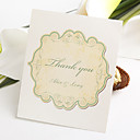 Flat Thank You Card - Label Pattern (Set of 50)