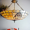 Tiffany Style Pendant Light with 3 Lights - Butterfly Patterned
