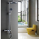 Contemporary Tub Shower Faucet with 10 inch Shower Head + Hand Shower