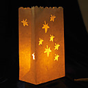 Maple Shaped Cut-out Paper Luminary (Set of 4)