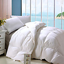 Twin/Full/Queen-size Solid White Cotton Satin 330 Thread Count Down Comforter