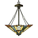 Tiffany Style Stained Glass Pendant Light with 2 lights