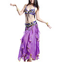 Performance Dancewear Polyester With Sequined Belly Top/Belt And Skirt