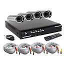 alto custo-eficiente kit dvr 4ch com a cmera  prova d'gua (linha 420TV cmos da cmera, d1 resoluo de gravao)