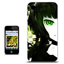 Black Rock Shooter Green Eye Half-Face Version Anime Case for iPhone 4/4s