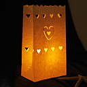 Heart Shaped Cut-out Paper Luminary (Set of 4)