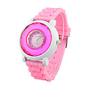 Ladies' Quartz Movement Silicone With Round Shape Wrist Watch(More Colors)