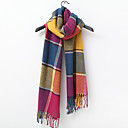 TS Colorful Plaid Wool Scarf