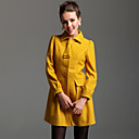 TS Ribbon Embellished Wool Blend Pea Coat (More Colors)