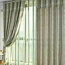 (Two Panels) Jacquard Classic Energy Saving Curtains