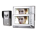 twee 7 inch monitor kleuren video deurtelefoon systeem met aluminium weersbestendige afdekhoes, camera