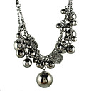 Layered Chains And Metal Balls Necklace
