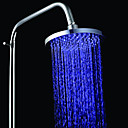 8 Inch A Grade ABS Chrome Finish Color Changing LED Rain Shower head