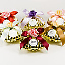 Shell Favor Holder With Bow And Flower (Set of 6)