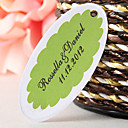 Personalized Oval Favor Tag – Green (Set of 60)