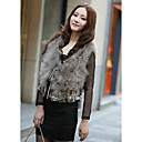 Sleeveless Ostrich Fur Vest With Beading/Fringe (More Colors)
