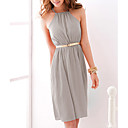 Halter Sheath/Column Knee-length Date Night Dress (More Colors)