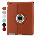 360 Degree Rotating Litchi PU Leather Case and Stand for iPad 2 (Assorted Colors)