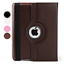 360 Degree Rotatable Lichee Pattern Auto Sleep Case for iPad 3