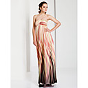 Sheath / Column Strapless Floor-length Chiffon Evening Dress