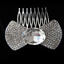Elegant Alloy With Rhinestone And Pearl Bridal Comb