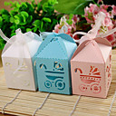 Cutout Baby Carriage Favor Box  Set of 12 (More Colors Available)
