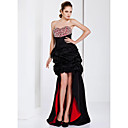 High Low A-line Sweetheart Asymmetrical Taffeta Evening Dress