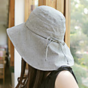 Ladies Gray Cotton Dome Cap(Adjustable within 58cm)