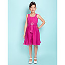 A-line Straps Knee-length Chiffon Junior Bridesmaid Dress