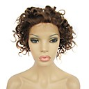 Full Lace 8 Inch 100% Human Hair Curly Hair Wig