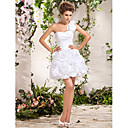 Ball Gown One Shoulder Short/Mini Taffeta Wedding Dress