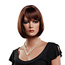Capless Bob Style High Quality Synthetic Auburn Red Straight Wigs