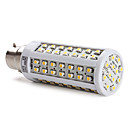 B22 96x3528 SMD 5W 650LM 2800-3200K Warm White Light LED Corn Bulb (220-240V)
