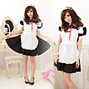 Cute Polyester Maid Suit with Red Ribbon (5 Pieces)