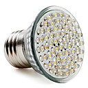 E27 60-LED 300LM 2-2.5W 2800-3500K Warm White Spot Bulbs (220-240V)