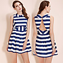 TS Two-piece Striped Swing Dress