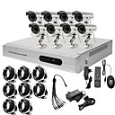 Ultra-Low-Preis 8CH CCTV DVR-Kit (H. 264, 8 Outdoor Wasserdicht Farbkameras)
