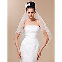 One Layer Beautiful Fingertip Length Wedding Veil