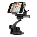 Soporte Universal Rotativo para iPhone 4, 4S y el Samsung i9220, i9250 con GPS (Negro)