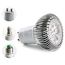 E27/E14/GU10 3x1W 270-300LM 6000-6500K Natural White Light Spot Lamp LED Bulb (85-265V)