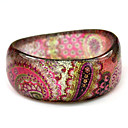  dames-hars ronde armbanden klassieke armband met gypsy kleurrijke print