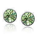 Splendid Austrian Crystal In Real Platinum Plated Ladies' Earrings (More Colors)
