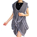 Collarless Cashmere Asymmetrical Knit Vest(More Colors)
