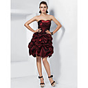 Ball Gown Sweetheart Strapless Short/Mini Taffeta Cocktail Dress