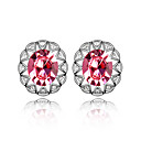 Moon Austrian Crystal In Real Platinum Plated Ladies' Earrings (More Colors)