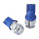 t10 0.18wx5 5-SMD 5050 coche de luz LED de lectura, DC 12v/pair (azul)