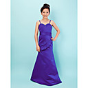 Trumpet/ Mermaid Sweetheart Floor-length Taffeta Junior Bridesmaid Dress