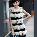 Sleeveless Party/ Office Rabbit And Raccoon Fur Vest (More Colors)